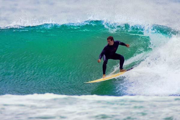 Surfing in Sennen, Cornwall